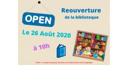Réouverture de la biblioteque