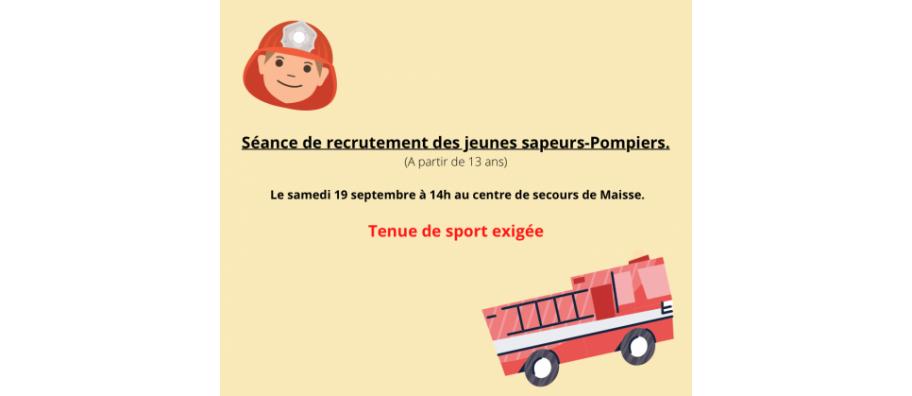 Recrutement jeunes Sapeurs-pompiers