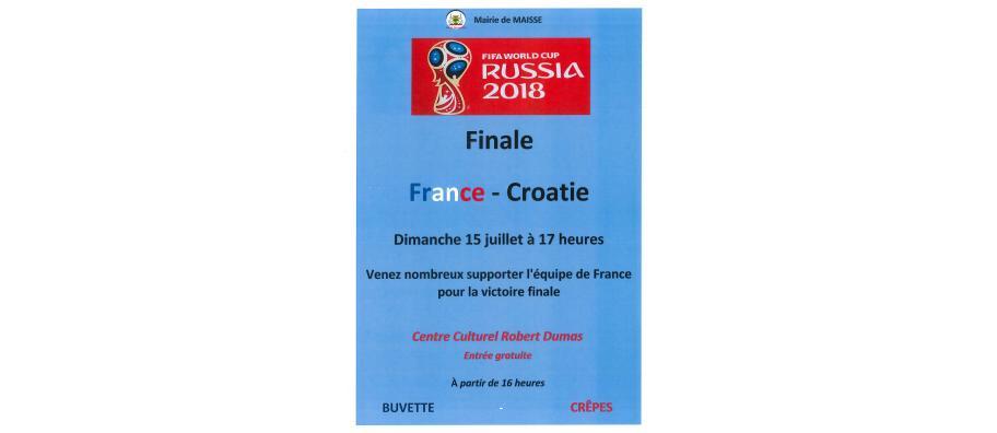 FRANCE / CROATIE - COUPE DU MONDE 2018