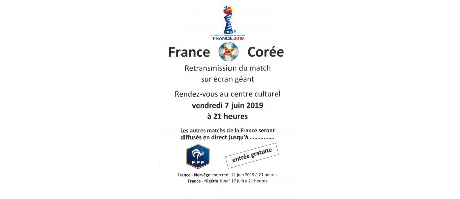 RETRANSMISSION COUPE DU MONDE FOOTBALL 2019