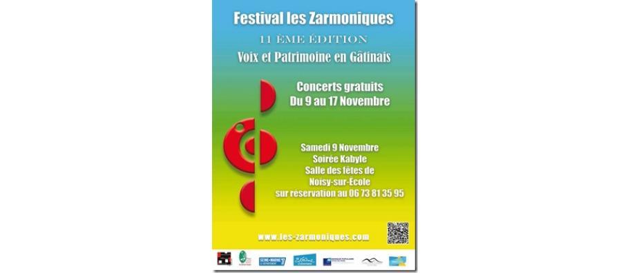 Festival Les Zarmoniques du 9 au 17 novembre 2019