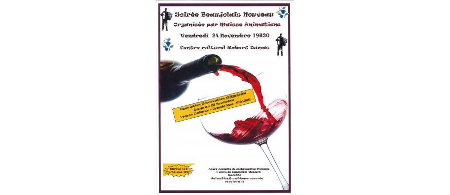 Soirée Beaujolais Nouveau (Réservation Obligatoire)