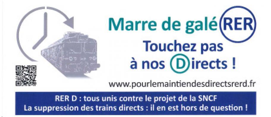 RER D tous unis contre le projet de la SNCF