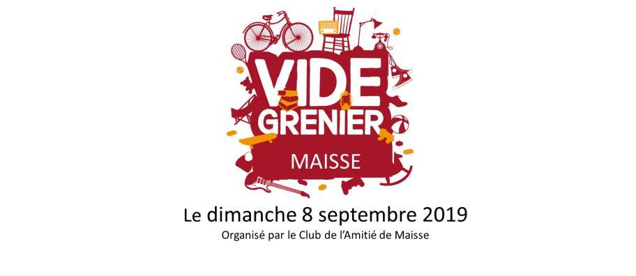 Vide grenier - Le club de l'amitié de Maisse 8 septembre 2019